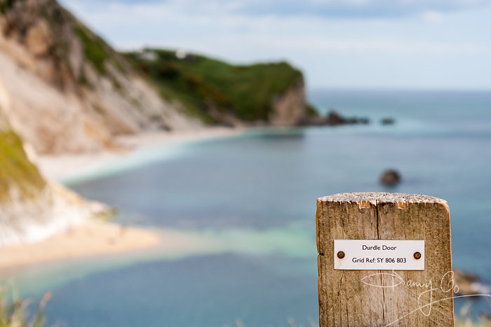 Grid reference at Durdle Door