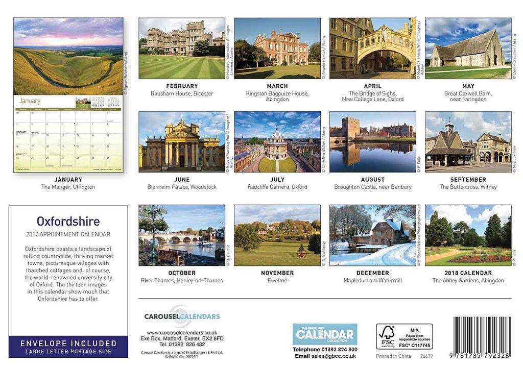 2017 Oxfordshire Calendar